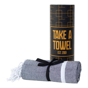 Take A Towel Take A Towel Hamamdoek zwart goud TAT 5-1