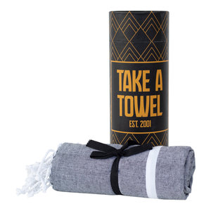 Take A Towel Take A Towel Hamamdoek zwart goud TAT 5-2