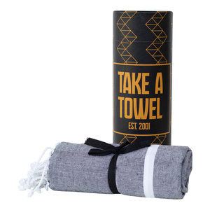Take A Towel Take A Towel Hamamdoek zwart goud TAT 5-4