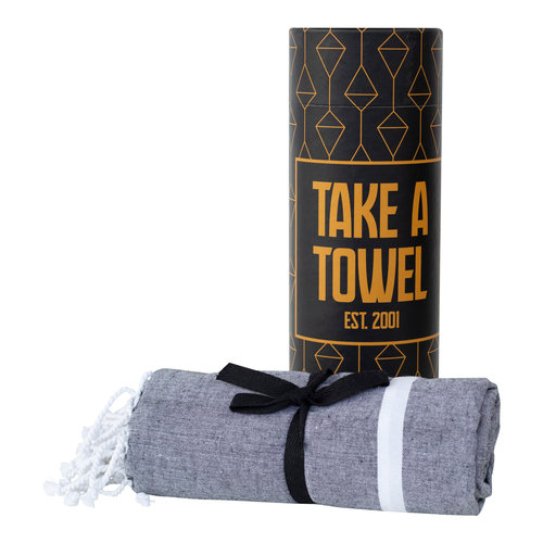 Take A Towel Take A Towel Hamamdoek zwart goud TAT 5-5