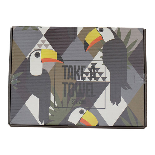 Take A Towel Take A Towel Hamamdoek zwart Toekan TAT 4A-1