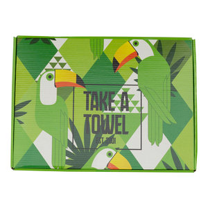 Take A Towel Take A Towel Hamamdoek groen Toekan TAT 4A-2