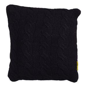 Mycha Ibiza Sierkussen Silke gebreid katoen 45x45 Zwart
