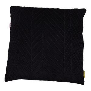 Mycha Ibiza Sierkussen Elle Velvet katoen 60x60 Zwart