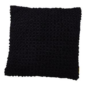 Mycha Ibiza Sierkussen Lonn Velvet katoen 60x60 Zwart