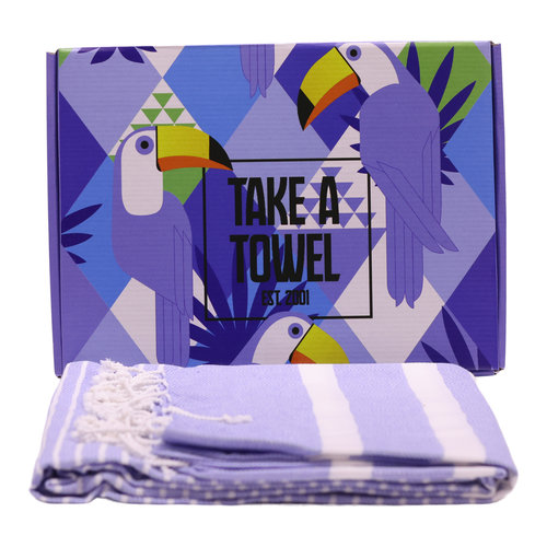 Take A Towel Take A Towel Hamamdoek blauw Toekan TAT 4A-4