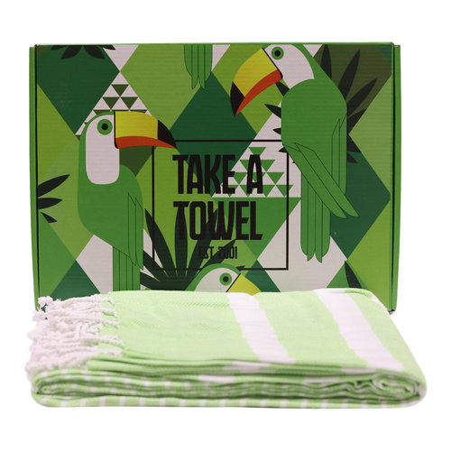 Take A Towel Take A Towel Hamamdoek groen Toekan TAT 4A-2