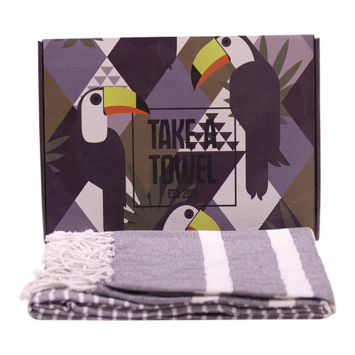 Take A Towel Take A Towel Hamamdoek zwart Toekan TAT 4A-1