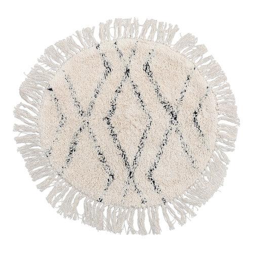 Mycha Ibiza Ronde boho badmat vloerkleed 60 cm