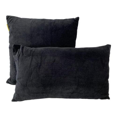 Mycha Ibiza Sierkussen set zwart 45x45 + 30x50 cm