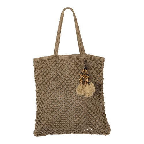 Mycha Ibiza Jute shopper tas Jill khaki