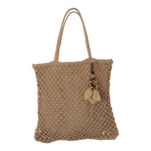 Mycha Ibiza Jute shopper tas Jill beige naturel