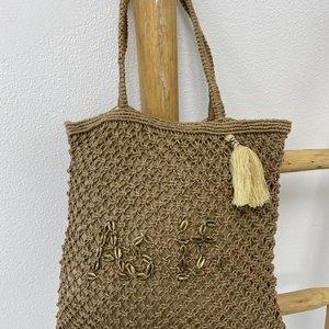 Mycha Ibiza Jute shopper tas As If beige naturel