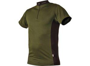 Pfanner Zipp-Neck Shirt Waldgrün kurzarm