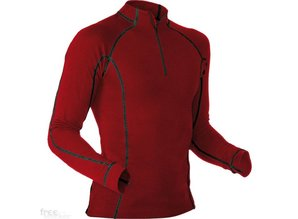 Pfanner Merino-Modal Shirt langarm burgundy