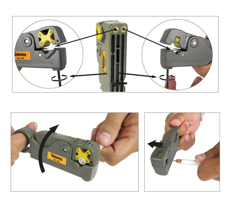Televes coax kabelstripper