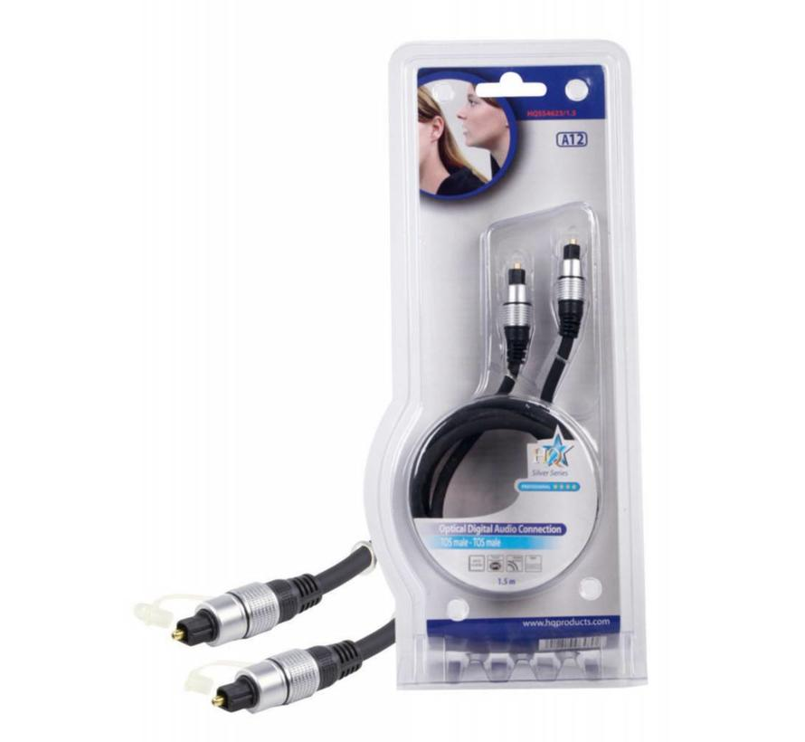 Digitale Audiokabel TosLink Male - TosLink Male 1.5 m Donkergrijs