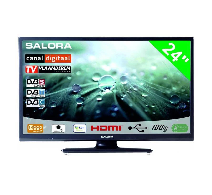 """Salora 24"""" LED 9109 DVB C/T/S-S2 12-230V"""