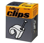 Tillex Kabel clips 5-7mm wit 100 stuks