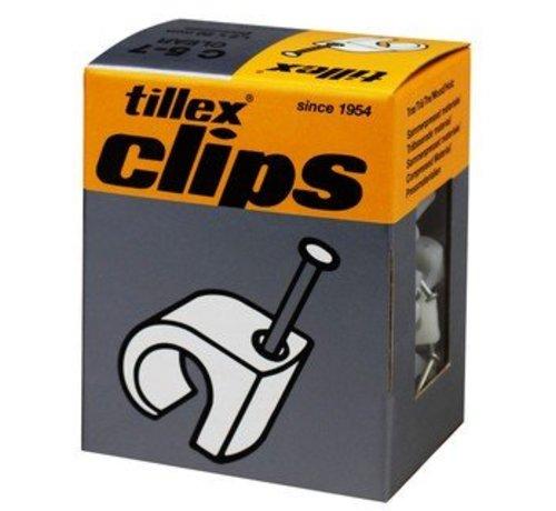 Tillex 1157 Kabel clips 5-7mm wit 100st 1.2 x 20mm