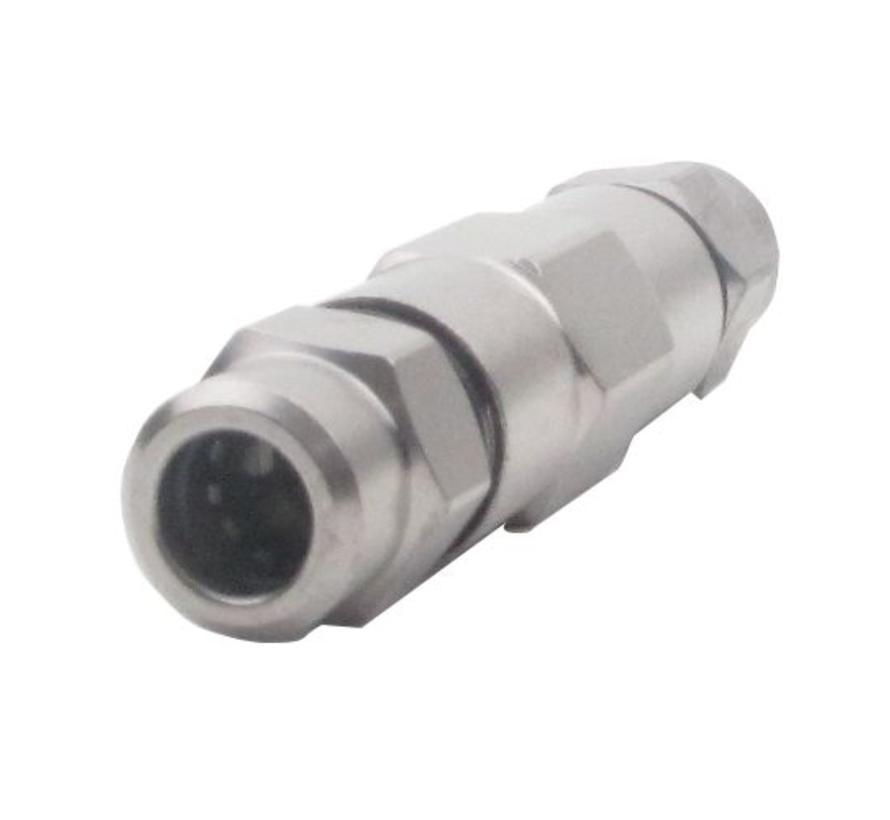 PPC A025-SPL koppeling Coax 9/12 - Coax 9/12 (6.8/7mm)