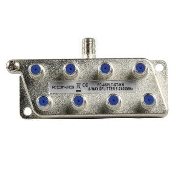 Konig Konig signaal splitter 8 voudig 5-2400Mhz