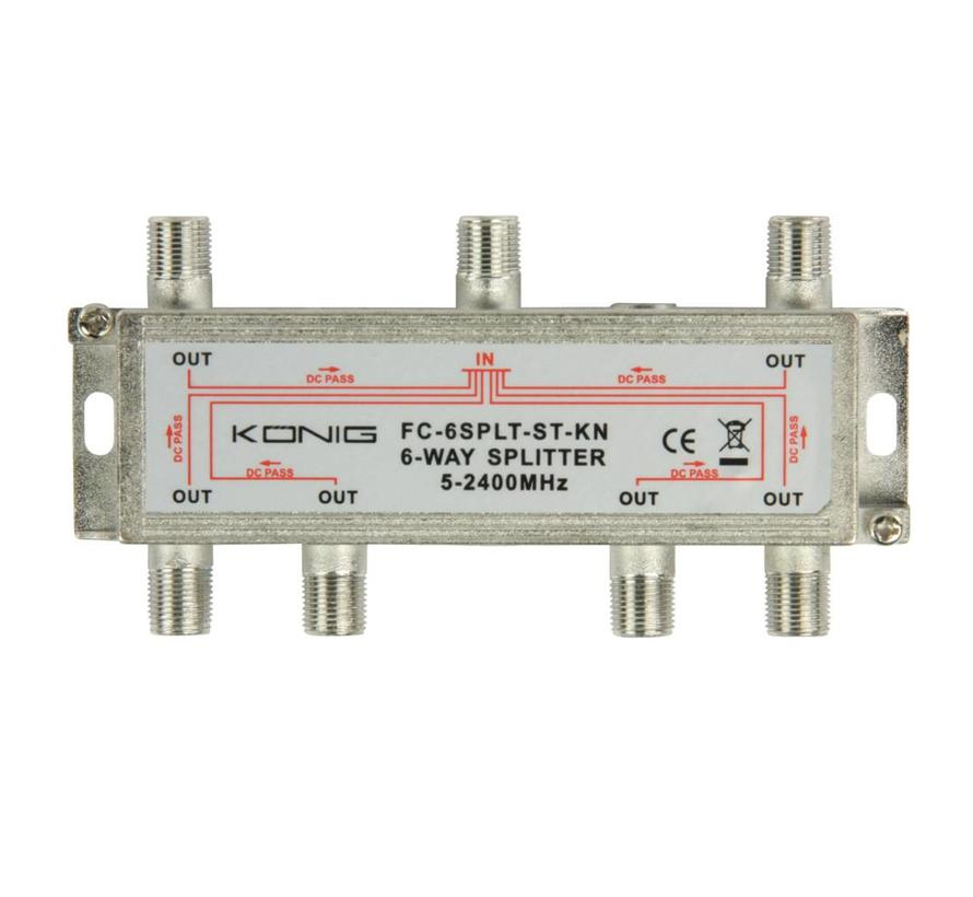 Konig signaal splitter 6 voudig 5-2400Mhz