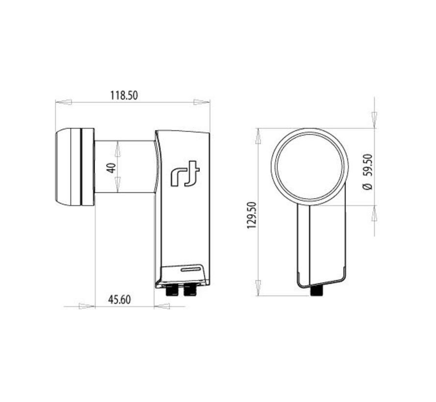 Inverto Ultra Black TWIN LNB IDLB-TWNL40-ULTRA-OPP
