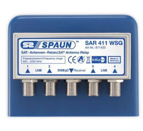 Spaun Spaun SAR 411 DiSEqC 2.0 switch 4/1 incl. behuizing