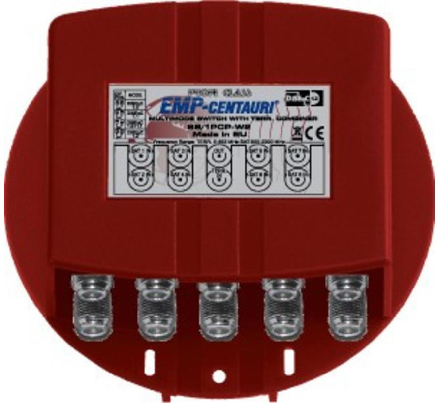 EMP DiSEqC 8/1 switch inclusief behuizing