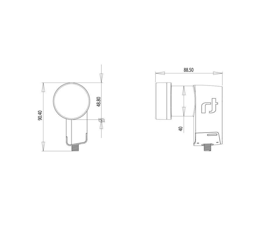 Inverto IDLB-SINL41-PREMU-OPP Black Premium Single 40mm LNB