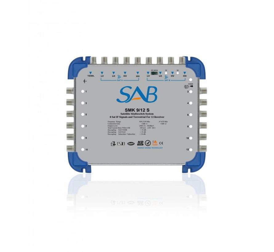 SAB Multiswitch SMS 9/12 (K214) voor 2 satellieten op 12 gebruikers