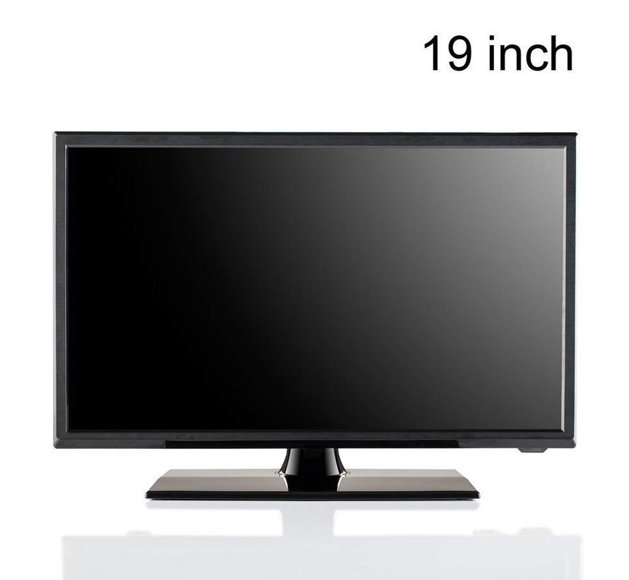"""Travel Vision 5319-B LED TV 19"""" CI S2/T2/C 12V DVD HEVC H.265"""
