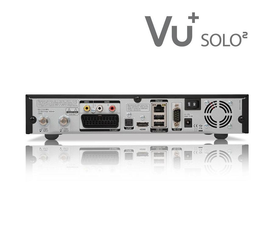 VU+ Solo 2 kleur zwart 2 x DVB-S2