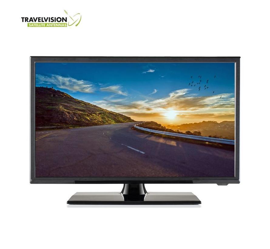 """Travel Vision 5322-B LED TV 22"""" CI S2/T2/C 12V DVD HEVC H.265"""