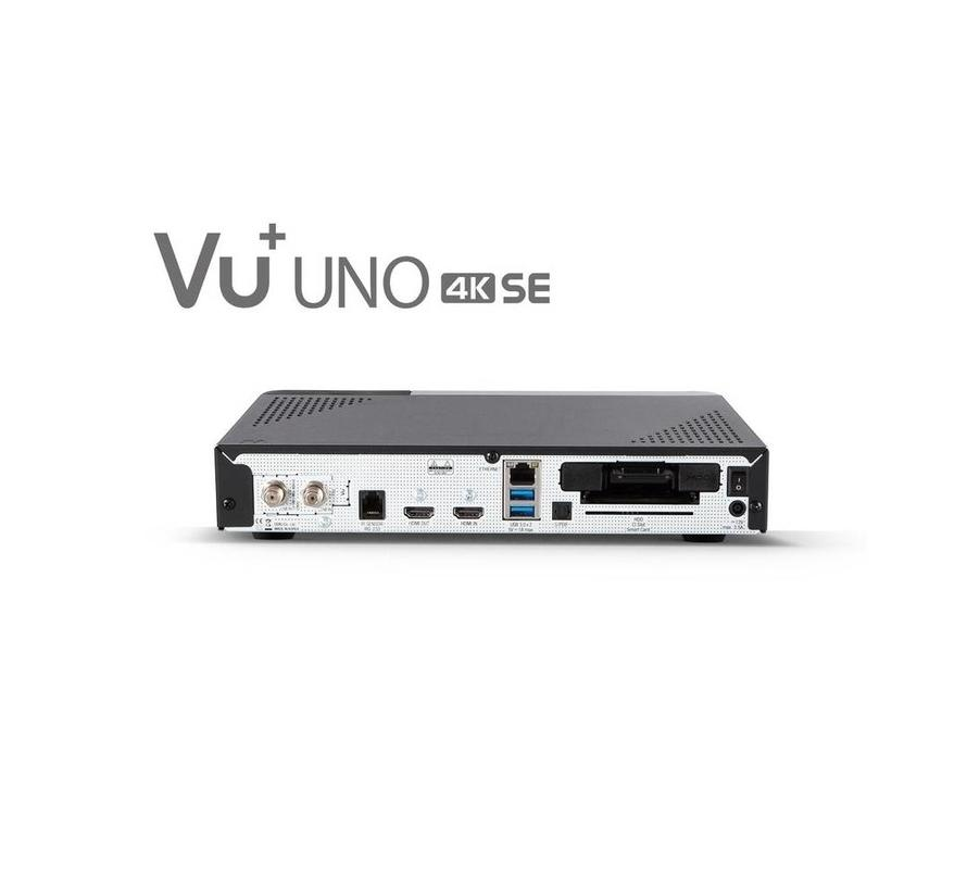 VU+ Uno 4K SE DVB-S2X FBC Twin Tuner Linux Receiver 2160p