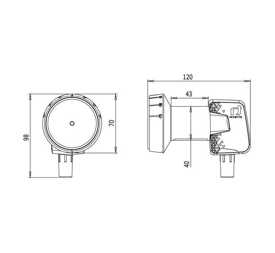 Inverto IDLP-SNL410-PREMU-OPN Premium Single 40mm PLL LNB