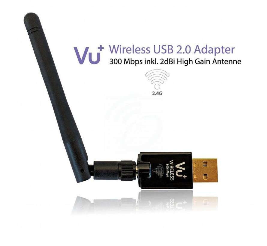 VU+ dual band WiFi dongle USB 2.0 adapter 300 Mbps met antenne