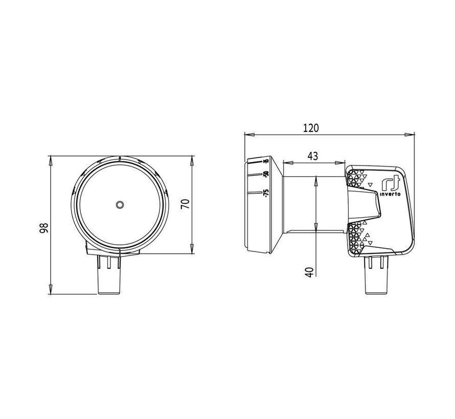 Inverto IDLH-SNL410-HMPRO-OPN Home Pro Single 40mm PLL LNB