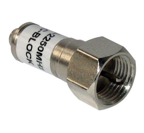 F-Connector afsluiter weerstand DC ontkoppelt