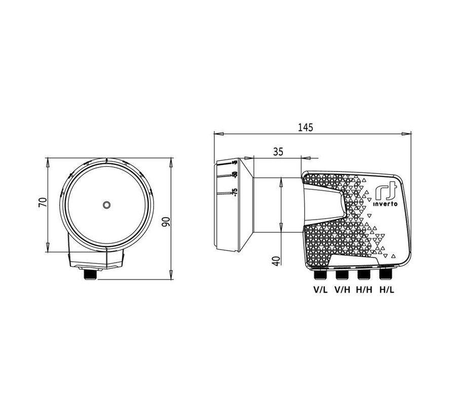 Inverto IDLH QTL410 HMPRO OPN Home Pro Quattro 40mm PLL LNB