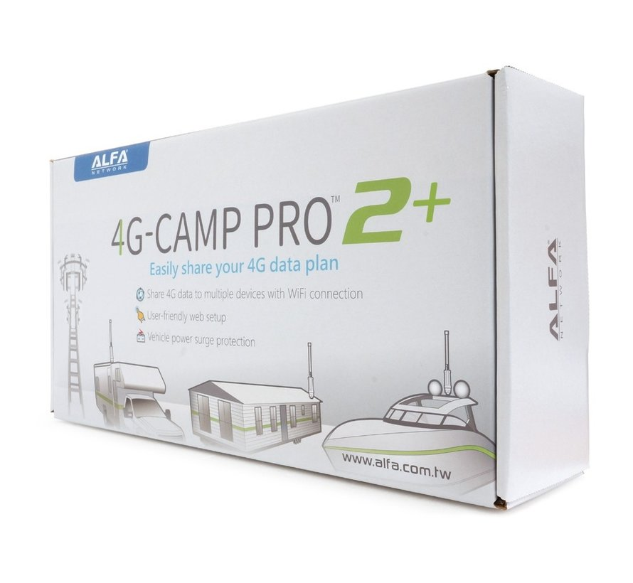 Alfa Network 4G-Camp Pro2+ Set Tube U4G Antenne + R36AH Router