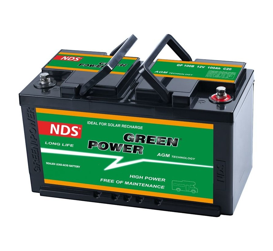 NDS Greenpower Service Accu AGM 12V 100Ah Ducato GP 100B
