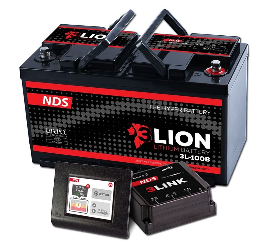 NDS 3L ION system Lithium Accu 12V-100Ah + 3LINK 100A 3L-100B