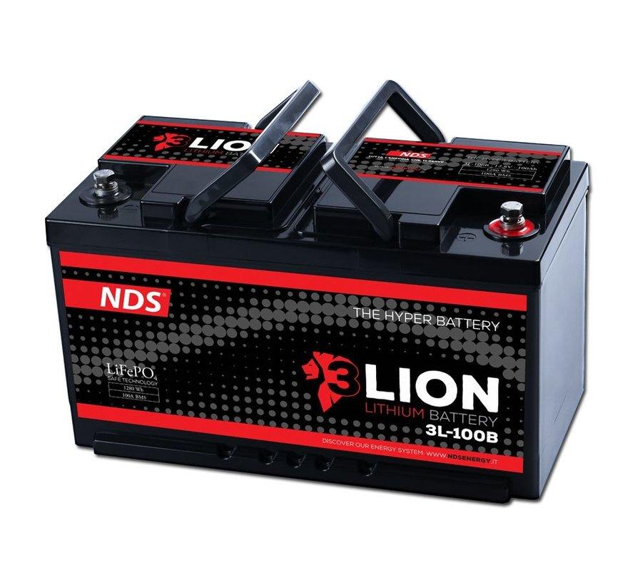 NDS 3LION Lithium Accu 12V-100Ah 3L-100B