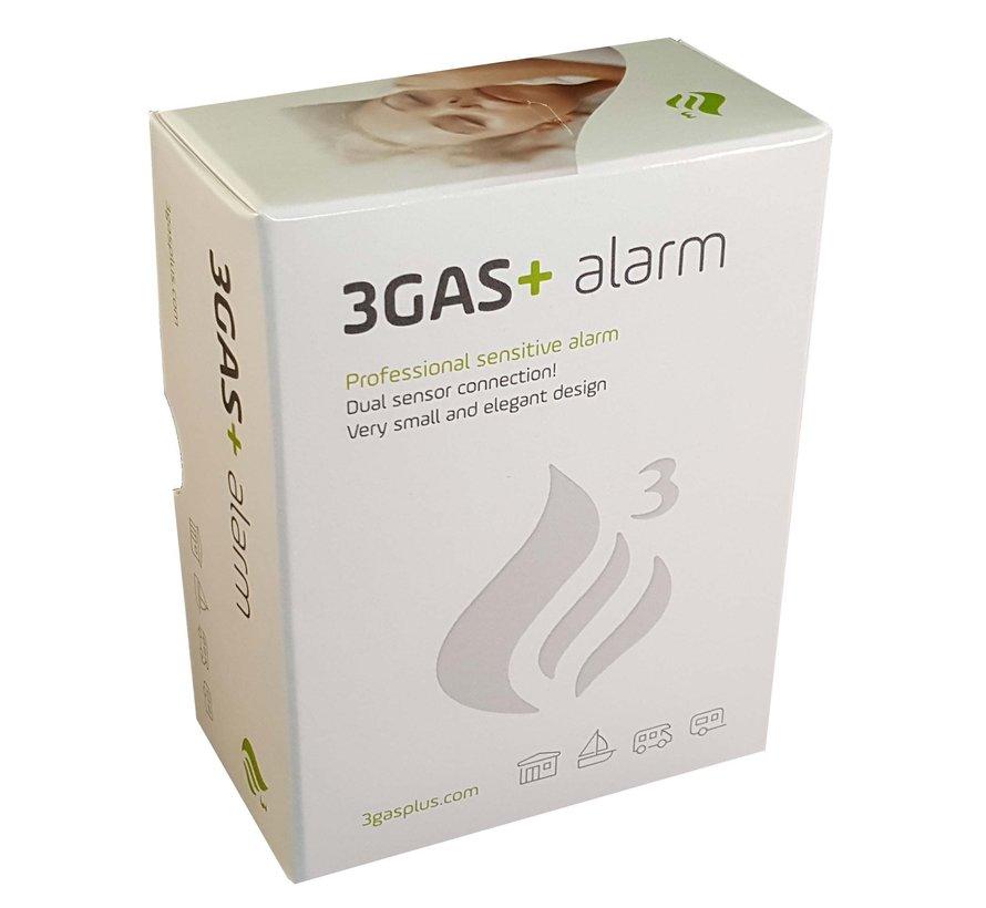 3GAS+ 12V Gasalarm Square Propaan, Butaan, LPG, Koolmonoxide
