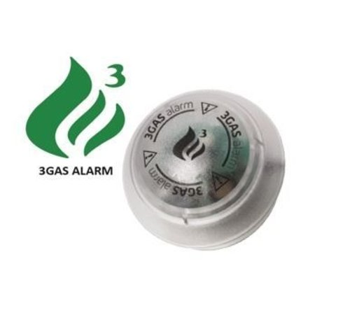 3GAS 3GAS 12V Gasalarm round Propaan, Butaan, LPG, Koolmonoxide