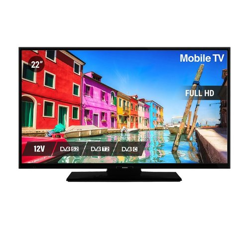 """Nikkei Nikkei NL22FMBK 22"""" 12V LED FHD DVB-S2/C/T2 CI+ HEVC H.265"""