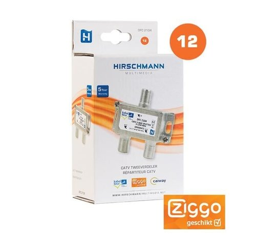Hirschmann Hirschmann DFC 2104 signaal splitter 2 voudig 5-1250Mhz