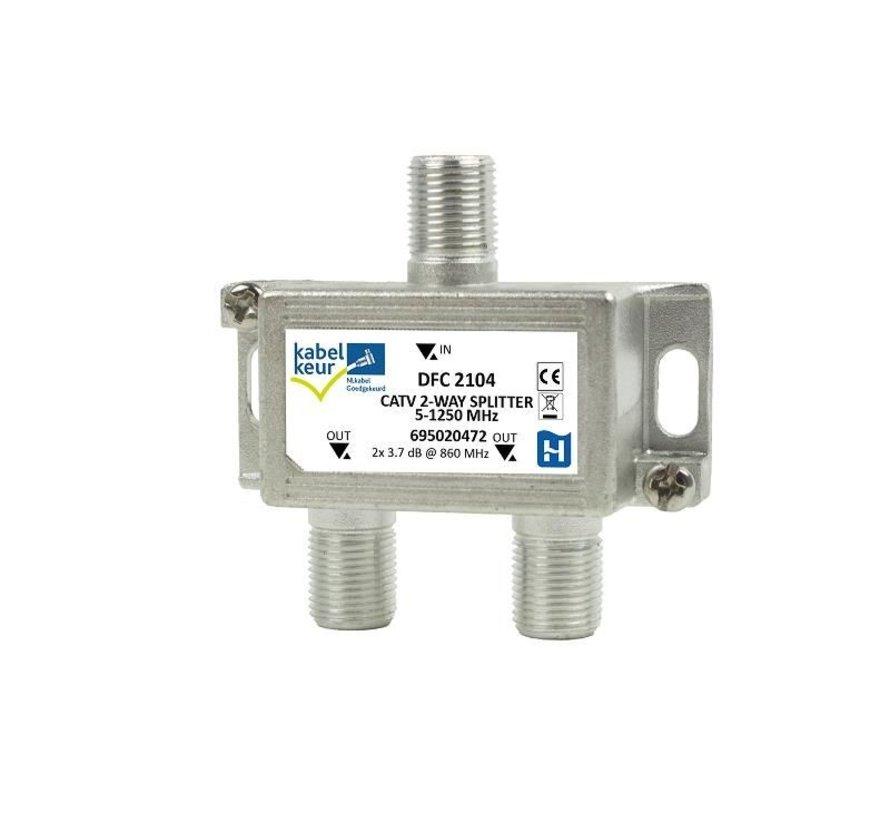 Hirschmann DFC 2104 signaal splitter 2 voudig 5-1250Mhz